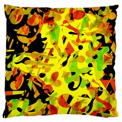 Fire Large Flano Cushion Case (one Side) by Valentinaart