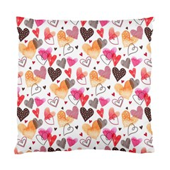 Colorful Cute Hearts Pattern Standard Cushion Case (one Side) by TastefulDesigns