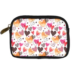 Colorful Cute Hearts Pattern Digital Camera Cases by TastefulDesigns