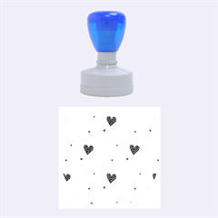 Colorful Cute Hearts Pattern Rubber Round Stamps (medium) by TastefulDesigns