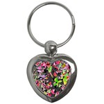 Playful pother Key Chains (Heart)  Front