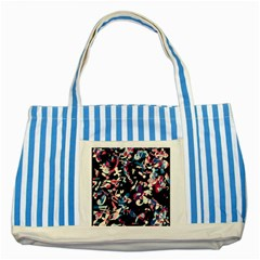 Creative Chaos Striped Blue Tote Bag by Valentinaart