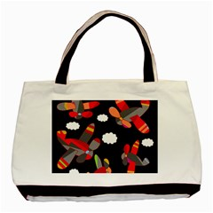 Playful Airplanes  Basic Tote Bag (two Sides) by Valentinaart