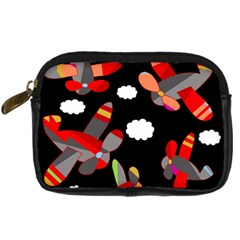 Playful Airplanes  Digital Camera Cases by Valentinaart