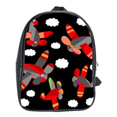 Playful Airplanes  School Bags (xl)  by Valentinaart
