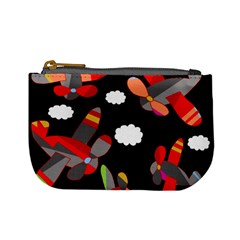 Playful Airplanes  Mini Coin Purses by Valentinaart