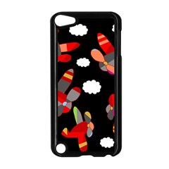 Playful Airplanes  Apple Ipod Touch 5 Case (black) by Valentinaart