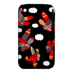 Playful Airplanes  Apple Iphone 3g/3gs Hardshell Case (pc+silicone) by Valentinaart