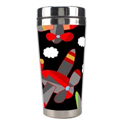 Playful Airplanes  Stainless Steel Travel Tumblers by Valentinaart
