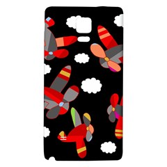 Playful Airplanes  Galaxy Note 4 Back Case by Valentinaart