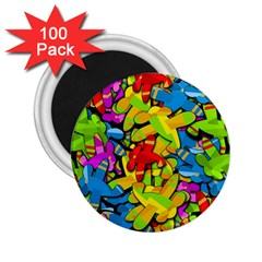 Colorful Airplanes 2 25  Magnets (100 Pack)  by Valentinaart