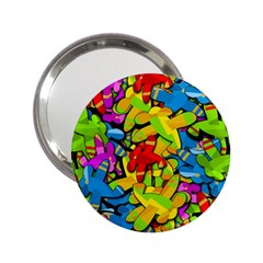 Colorful Airplanes 2 25  Handbag Mirrors