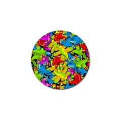 Colorful Airplanes Golf Ball Marker by Valentinaart