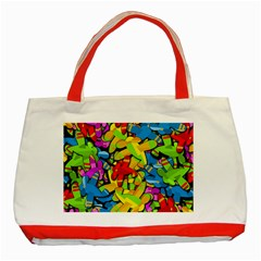 Colorful Airplanes Classic Tote Bag (red) by Valentinaart