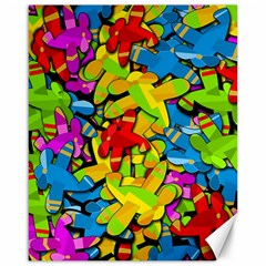 Colorful Airplanes Canvas 16  X 20   by Valentinaart