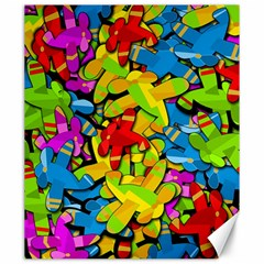 Colorful Airplanes Canvas 20  X 24