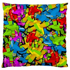 Colorful Airplanes Standard Flano Cushion Case (one Side) by Valentinaart