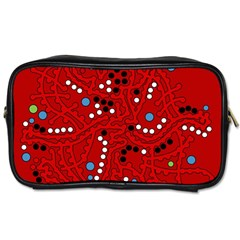 Red Fantasy Toiletries Bags 2 Side