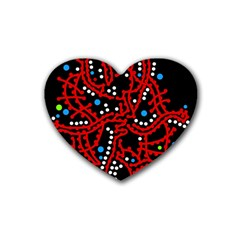 Red Fantasy 2 Heart Coaster (4 Pack)