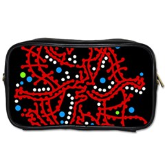 Red Fantasy 2 Toiletries Bags 2 Side