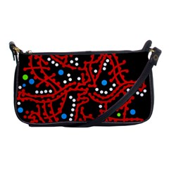 Red Fantasy 2 Shoulder Clutch Bags by Valentinaart