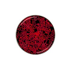 Red Emotion Hat Clip Ball Marker (4 Pack) by Valentinaart