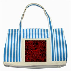 Red Emotion Striped Blue Tote Bag