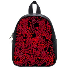 Red Emotion School Bags (small)  by Valentinaart