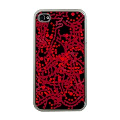 Red Emotion Apple Iphone 4 Case (clear) by Valentinaart