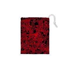 Red Emotion Drawstring Pouches (xs)  by Valentinaart