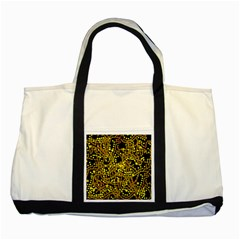 Yellow Emotions Two Tone Tote Bag by Valentinaart