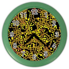 Yellow Emotions Color Wall Clocks by Valentinaart