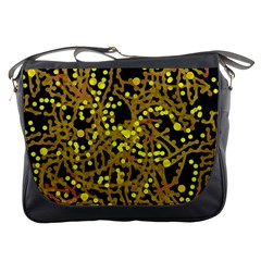 Yellow Emotions Messenger Bags by Valentinaart