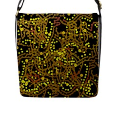 Yellow Emotions Flap Messenger Bag (l)  by Valentinaart