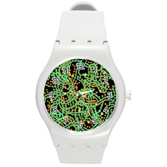 Green Emotions Round Plastic Sport Watch (m) by Valentinaart