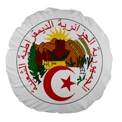 National Seal Of Algeria Large 18  Premium Round Cushions by abbeyz71