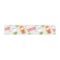 Funny Cat Food Succulent Pattern  Flano Scarf (mini)