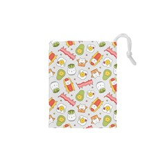 Funny Cat Food Succulent Pattern  Drawstring Pouches (xs)  by Mishacat
