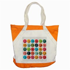 Alphabet Accent Tote Bag by AnjaniArt