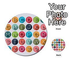 Alphabet Multi Purpose Cards (round)