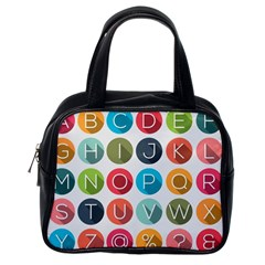 Alphabet Classic Handbags (one Side) by AnjaniArt