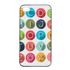 Alphabet Apple Iphone 4/4s Seamless Case (black) by AnjaniArt