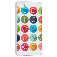 Alphabet Apple Iphone 4/4s Seamless Case (white) by AnjaniArt