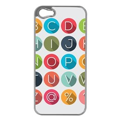 Alphabet Apple Iphone 5 Case (silver) by AnjaniArt