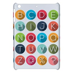 Alphabet Apple Ipad Mini Hardshell Case by AnjaniArt