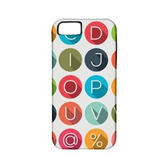 Alphabet Apple Iphone 5 Classic Hardshell Case (pc+silicone) by AnjaniArt
