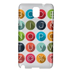 Alphabet Samsung Galaxy Note 3 N9005 Hardshell Case by AnjaniArt
