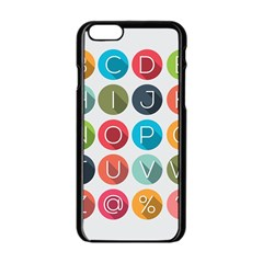 Alphabet Apple Iphone 6/6s Black Enamel Case by AnjaniArt