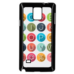 Alphabet Samsung Galaxy Note 4 Case (black) by AnjaniArt