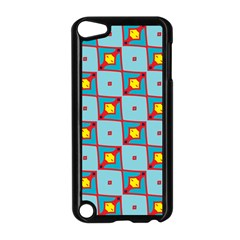 Shapes In Squares Pattern                                                                                                           			apple Ipod Touch 5 Case (black) by LalyLauraFLM